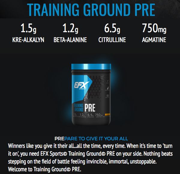 EFX Sports Training Ground Pre Workout