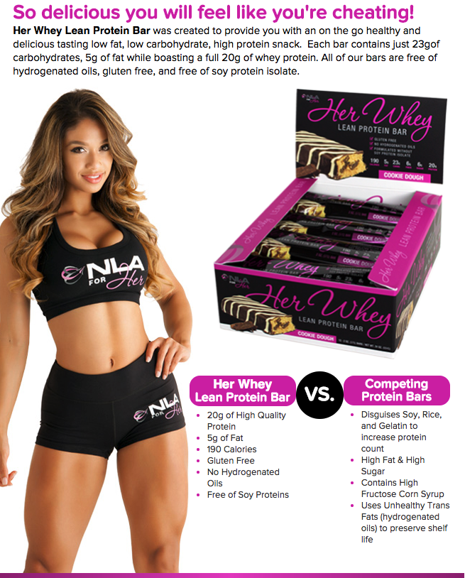 NLA for Her Whey Protein Bar