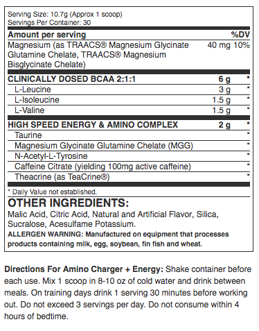 Nutrex Amino Charger plus Energy