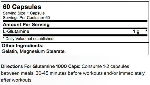 Optimum Nutrition Glutamine 1000 Caps