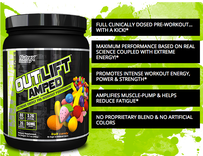 Nutrex Outlift Amped Pre Workout