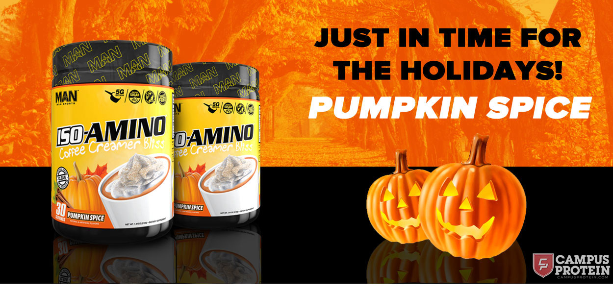 Pumpkin Spice Iso-Amino Coffee Creamer by Man Sports