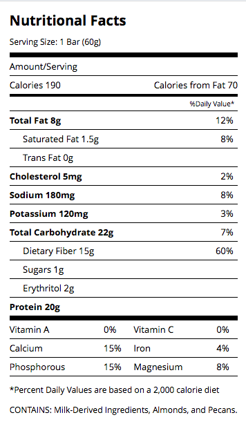 Quest Bar by Quest Nutrition Nutrition Facts