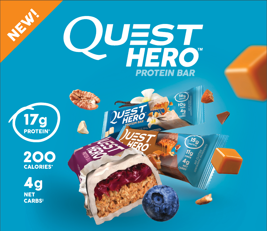 Quest - Hero Protein Bars - Posted Protein
