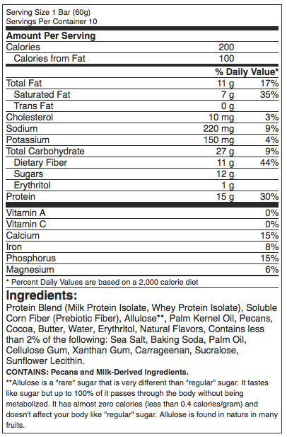 Quest Hero Bar Nutrition Facts