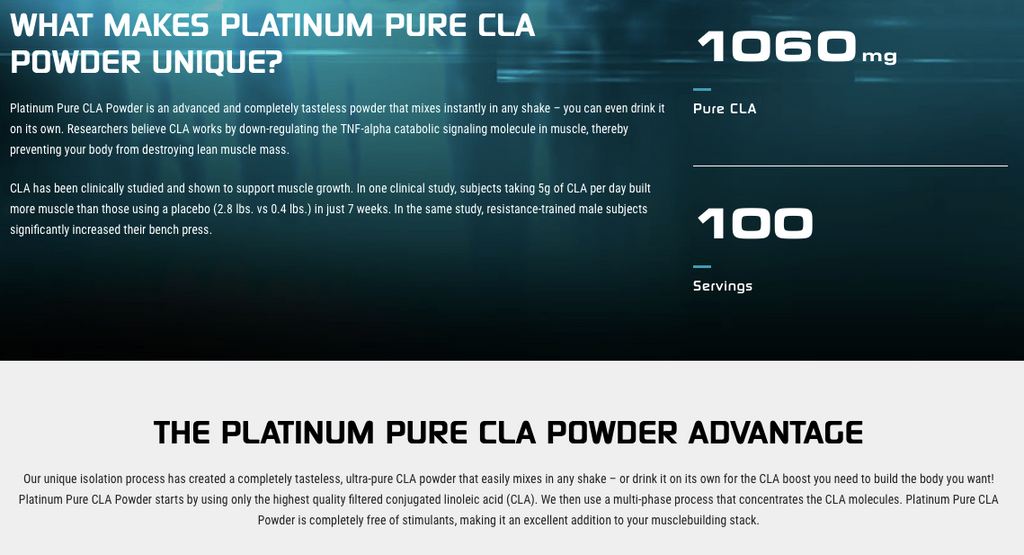 MuscleTech Platinum Pure CLA Powder