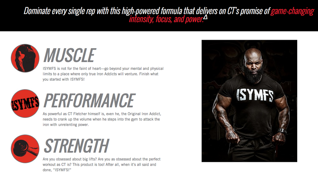 iSatori CT Fletcher ISYMFS Pre Workout