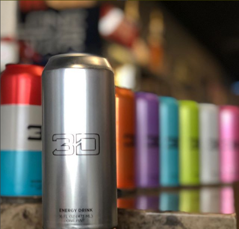 Chrome Silver 3D Energy Drink Flavor Strawberry Lemonade