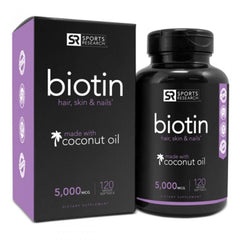 Sports Research Biotin Supplement for Hair Skin and Nails