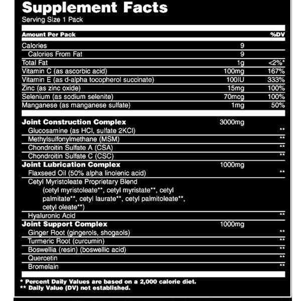 Universal Animal Flex Nutrition Facts