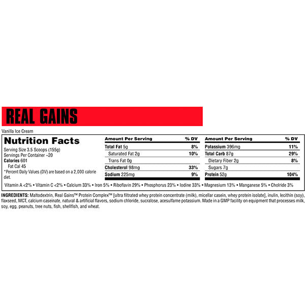 Universal Real Gains Nutrition