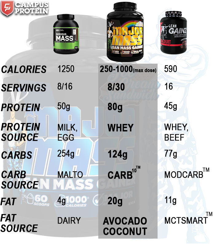 VMi Major Mass Lean Mass Gainer