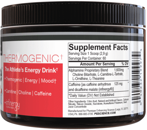 PES Alphamine energy and thermogenic supplement