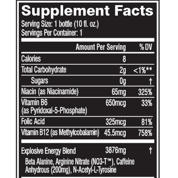 Cellucor C4 On the Go Supplement Facts