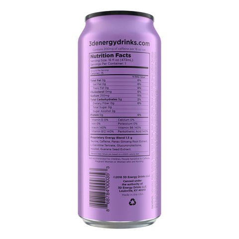 3D Energy Drink Purple Grape