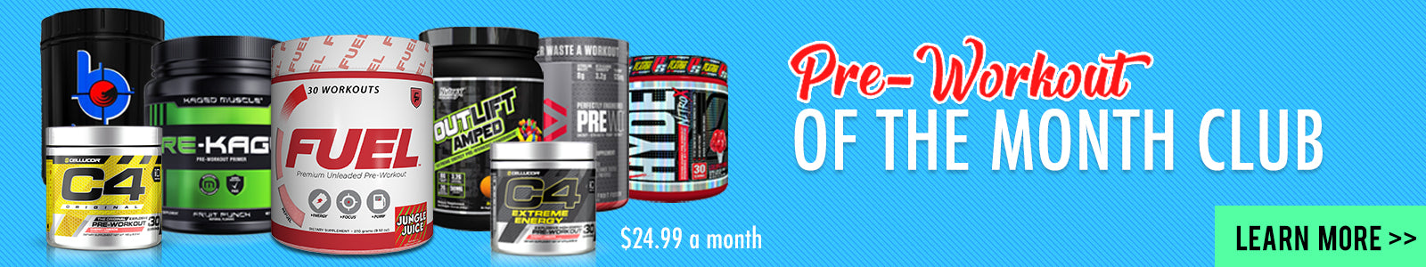 pre workout of the month club