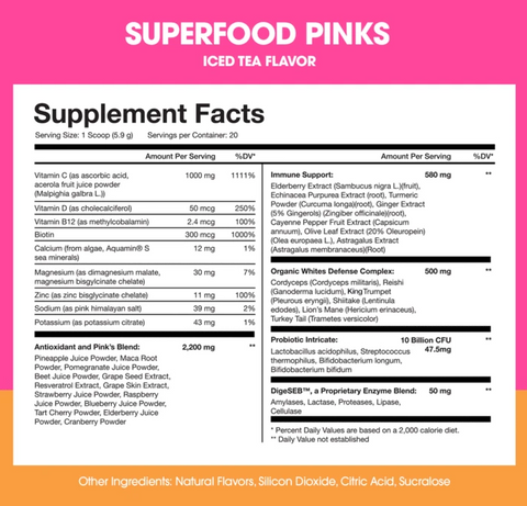 Obvi Superfood Pinks Immunity and defense supplement
