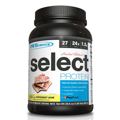 Amazing Peppermint Bark Seasonal Limited Edition Flavor by PES Select Protein