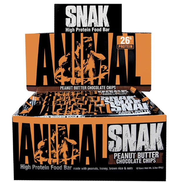 Universal Animal Snak Protein Bars Peanut Butter Chocolate Chips