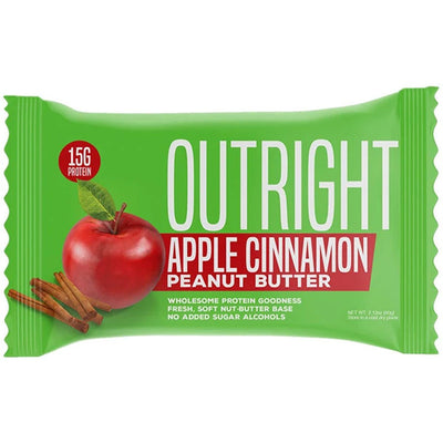 MTS OUTRIGHT Whole Food Protein Bar Apple Cinnamon Peanut Butter