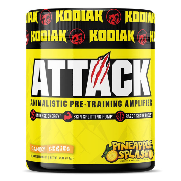 Kodiak Supplements Attack Pre Workout Pineapple Splash