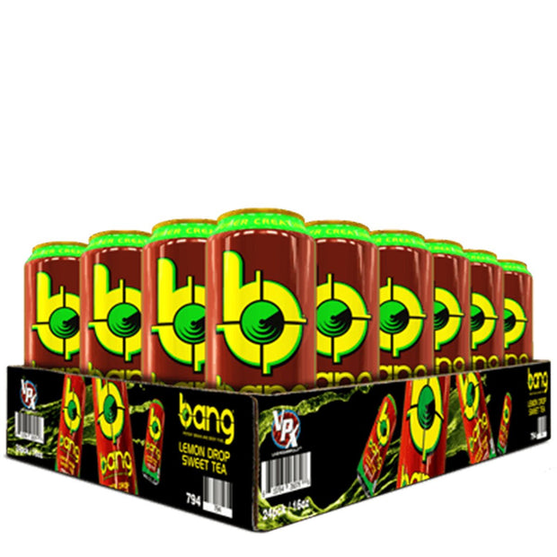 VPX BANG Energy Drink Tea Flavors Lemon Drop Sweet Tea