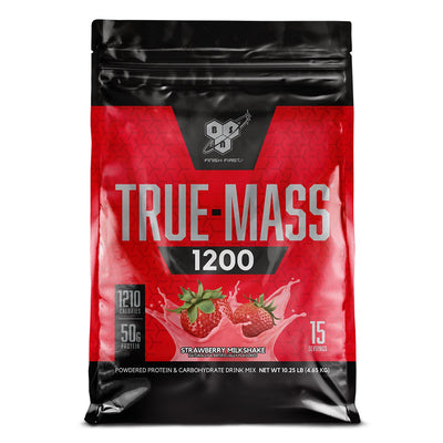BSN True Mass 1200 Weight Gainer Protein Supplement Strawberry