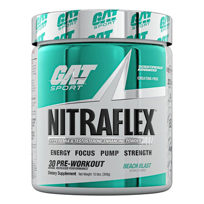 GAT Sport Nitraflex Pre Workout Powder Beach Blast