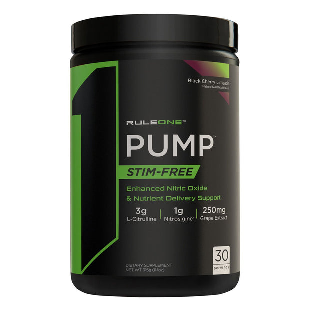 Rule One R1 PUMP Stim Free Pre Workout Black Cherry Limeade