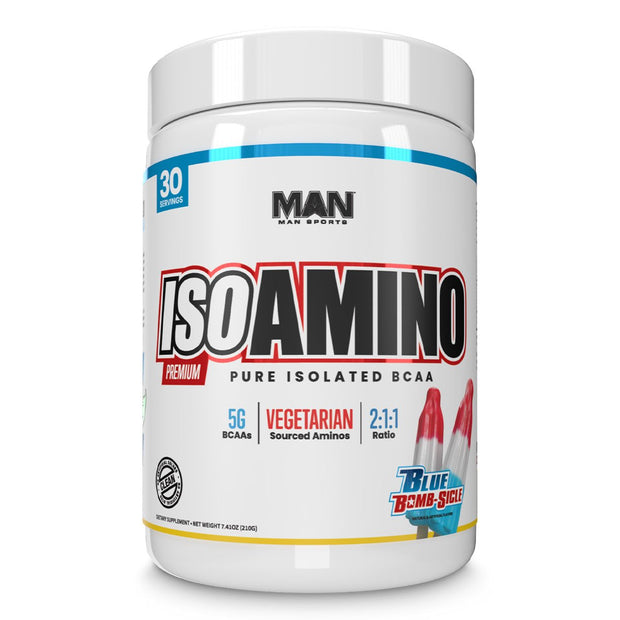 MAN Sports ISO Amino BCAA Supplement Blue Bomb sicle
