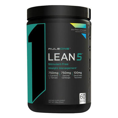 Rule One Proteins R1 Lean 5 Weight Loss Supplement l Stimulant Free l FAT LOSS Blue Razz Lemonade