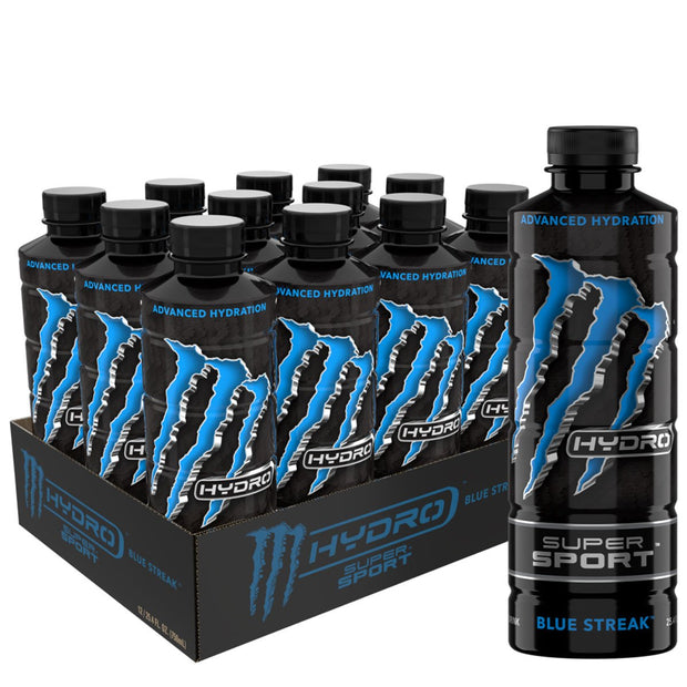 Monster Energy Monster Hydro Super Sports Drink Blue Streak
