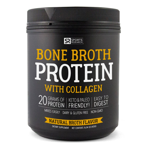 Sports Research Bone Broth Protein with Collagen Unflavored