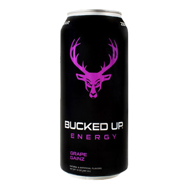 BuckedUP Energy Drink Grape Gainz
