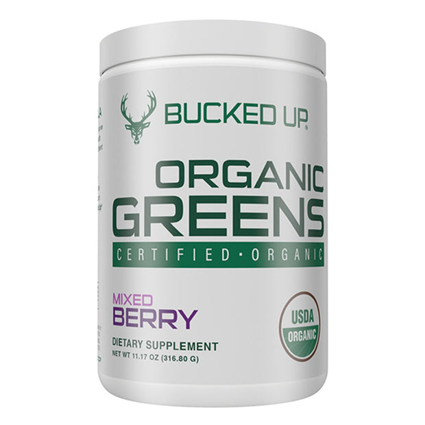 Bucked Up Organic Greens Supplement Mixed Berry