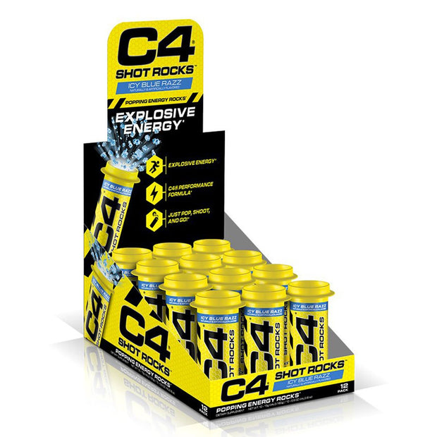 Cellucor C4 Shot Rocks Pre Workout Blue Razz