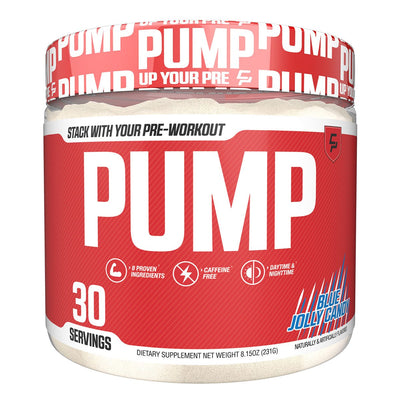 Campus Protein CP PUMP Stimulant Free Pre Workout Blue Jolly Candy