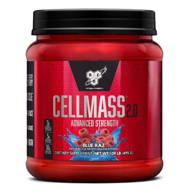 BSN Cellmass 2.0 Post Workout Supplement Blue Raz