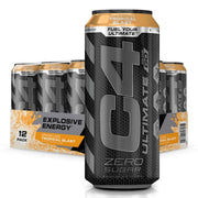 Cellucor C4 Energy C4 Ultimate Carbonated Energy Drink Pre Workout Tropical  Blast