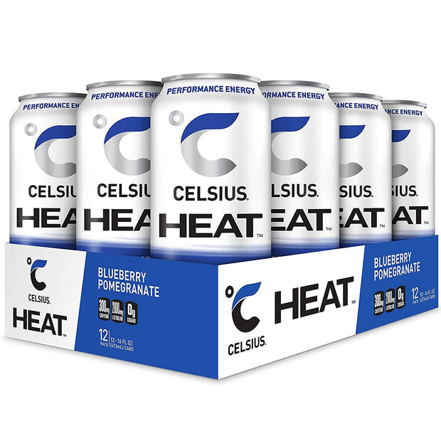 Celsius HEAT Energy Drink Blueberry Pomegranate
