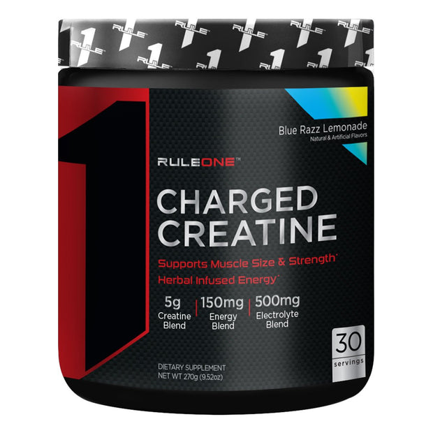 Rule One Charged Creatine Blue Razz Lemonade