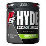 Pro Supps HYDE Max Pump Stimulant Free Pre Workout Powder Supplement Cherry Limeade