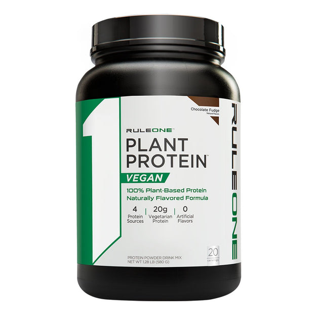 Rule One R1 Plant Protein Vegan Powder Supplement Chocolate Fudge