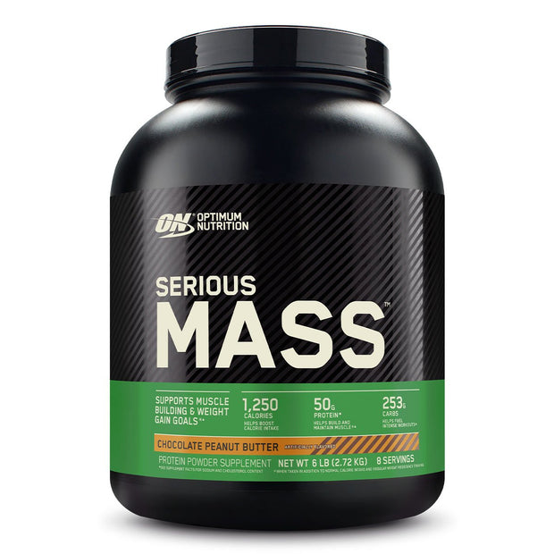 ON Optimum Nutrition Serious Mass Weight Gainer Protein Chocolate Peanut Butter