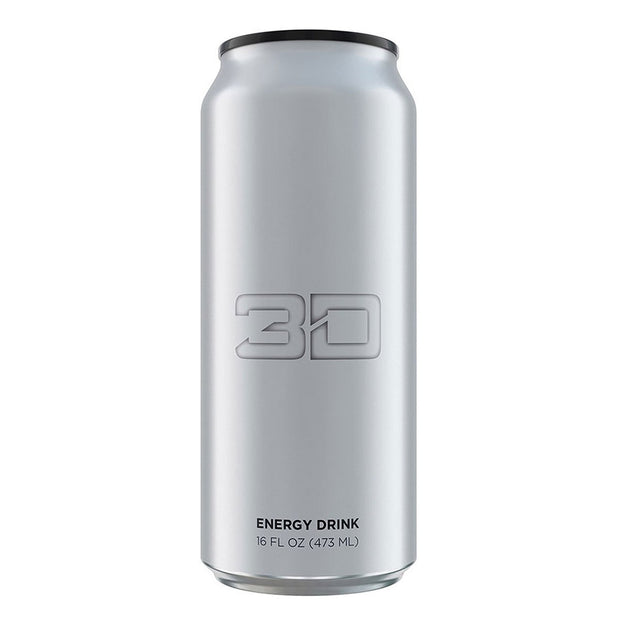 3D Energy Drink Chrome Silver