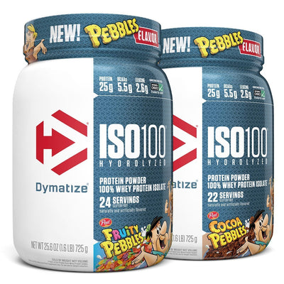 Dymatize ISO100 Fruity and Cocoa Pebbles Cereal Protein Flavors