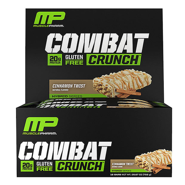 MusclePharm Combat Crunch Bars Cinnamon Twist