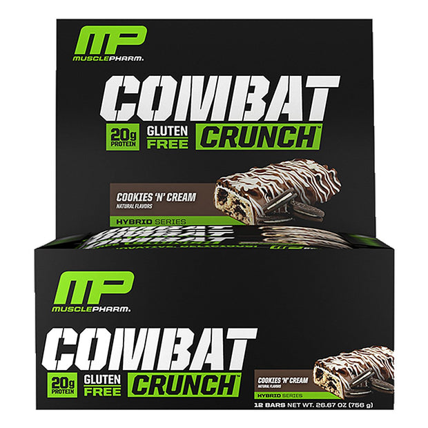 MusclePharm Combat Crunch Bars Cookies and Cream
