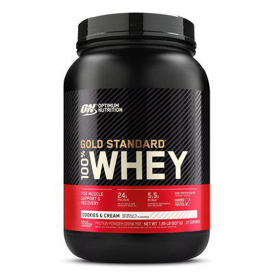 ON Optimum Nutrition Gold Standard 100% Whey Protein Powder Supplement Cookies and Cream