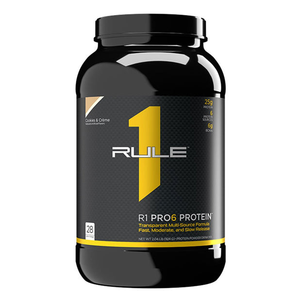 Rule One R1 Pro6 Protein Powder Supplement Cookies and Cream